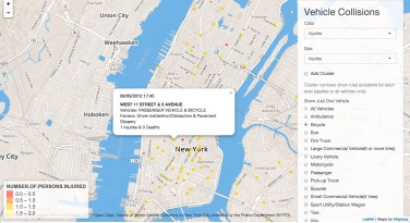 The Most Dangerous Intersections in NYC – Interactive Data
